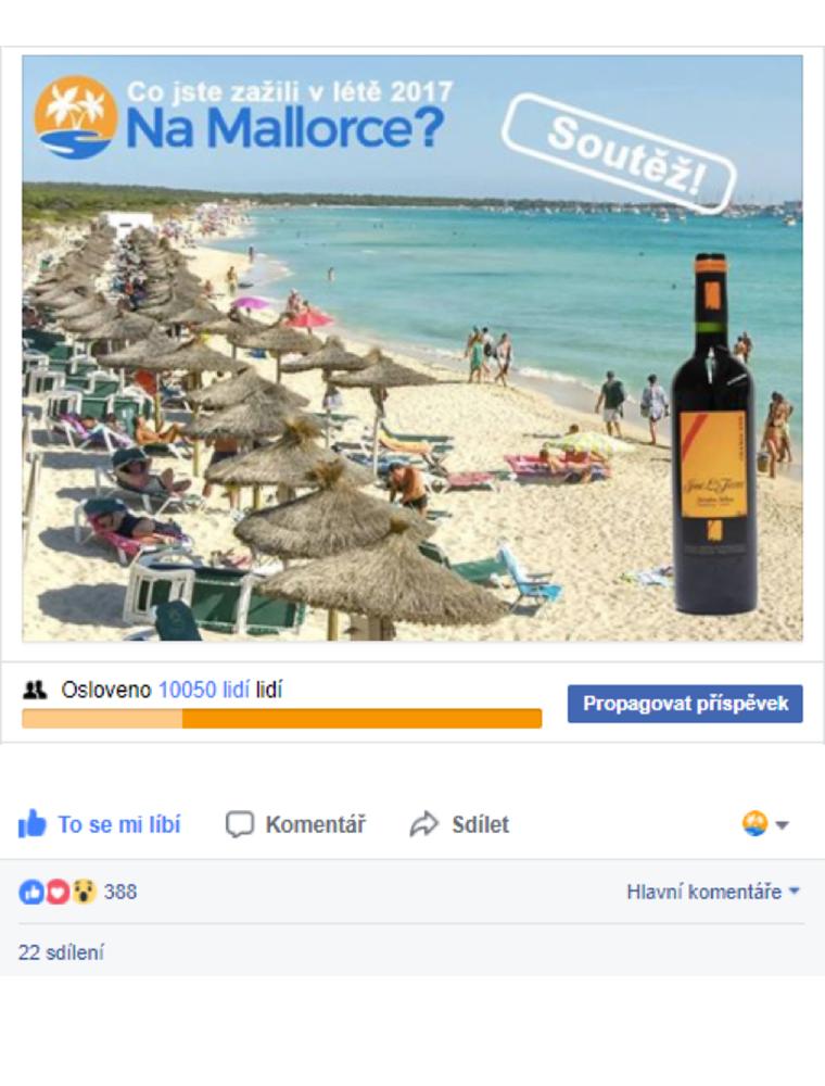 Dovolená na Mallorce - Soutěž na Facebooku